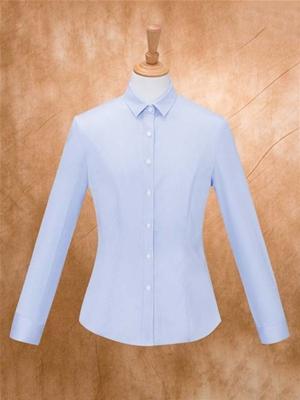 MTV-163蓝条女长袖衬衫