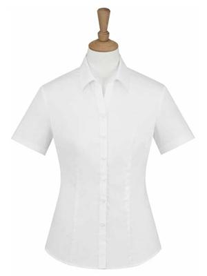 MTV-225白色女短袖衬衫