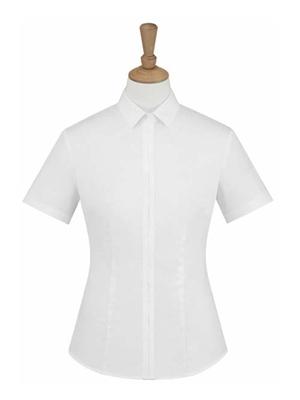 MTV-226白色女短袖衬衫