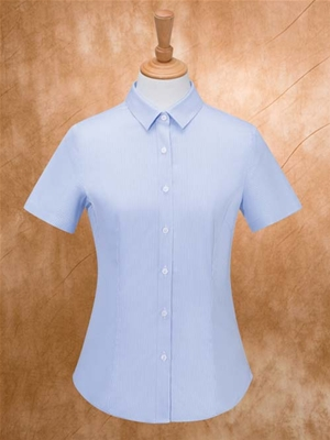 MTV-263蓝条女短袖衬衫