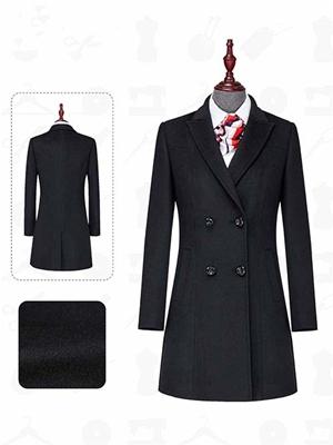 SD801女大衣黑色顺毛
