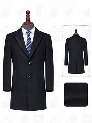XD801男大衣黑色顺毛