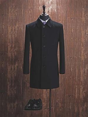 YW-09M男大衣黑色
