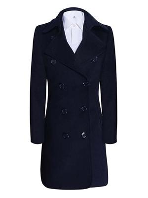 女大衣W891406藏青