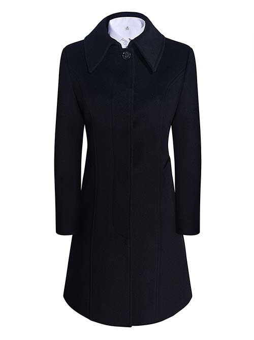 女大衣W891402黑色