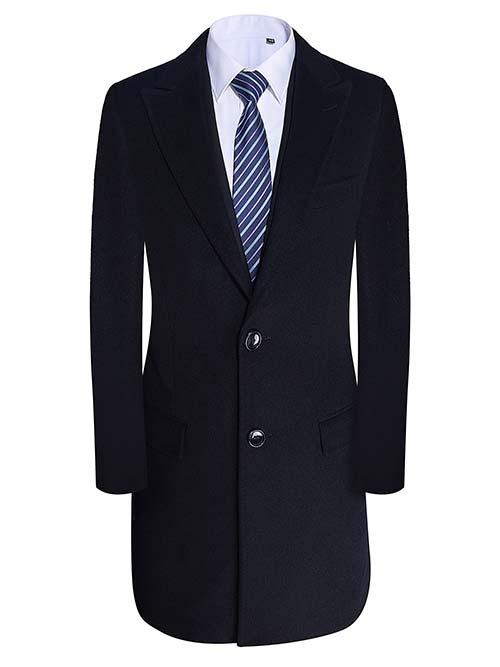 男大衣M89008黑色
