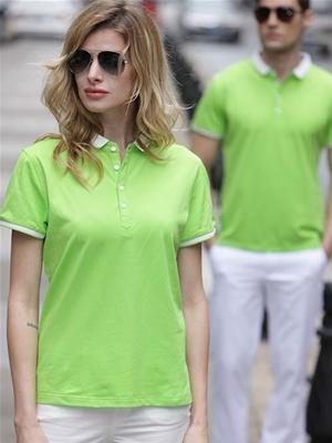 嫩绿色T恤1男女