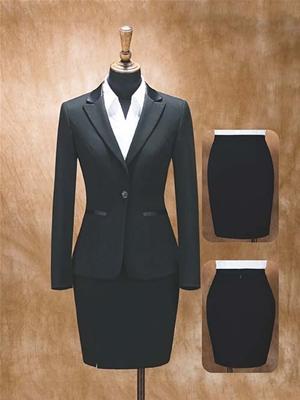 HY2001-2女西服黑色