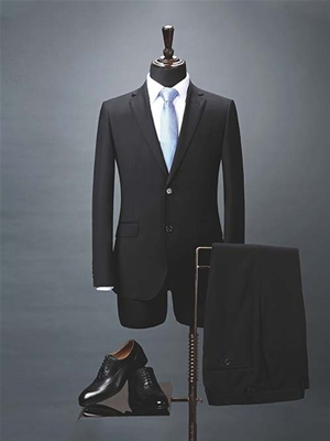 HY1016男西服黑色