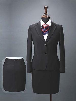 HY1016-2女西服黑色