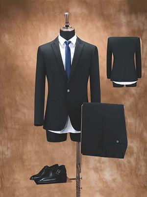 HY2001-2男西服黑色