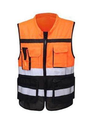 橙色黑色工程马甲