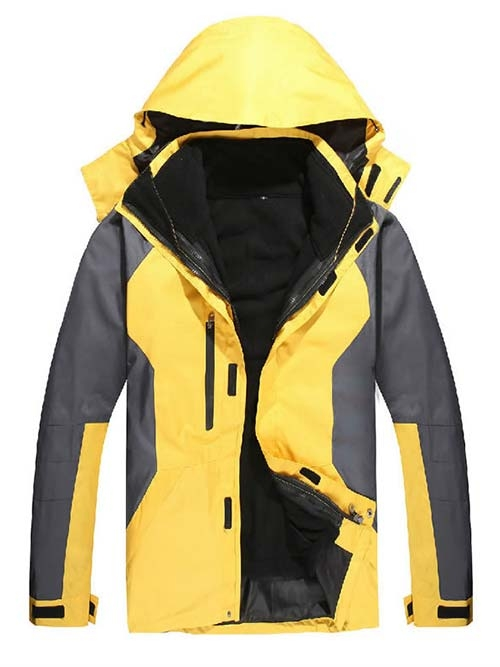 冲锋衣鸭黄色