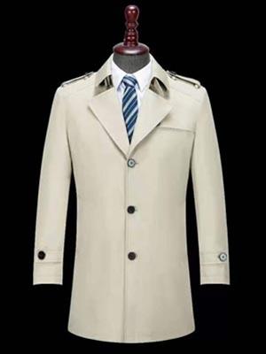 男士春秋冬 中长款大衣简约舒适保暖羊毛外套