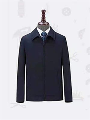 HJ2079藏青色平纹 男士夹克 大衣 聚酯纤维外套