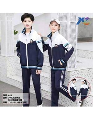 春秋季A11初中高中生校服-宽松长袖校服套装定做